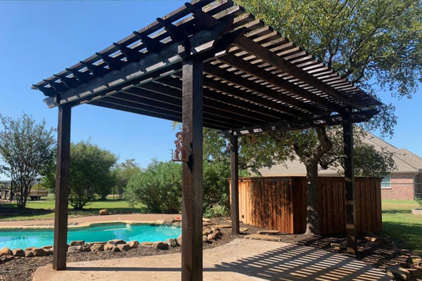 A-Southern Fence Pergola Installation